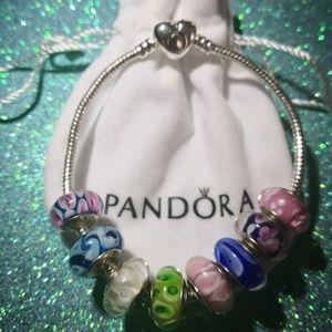 Bracelet.Pandora.Charms -8 p